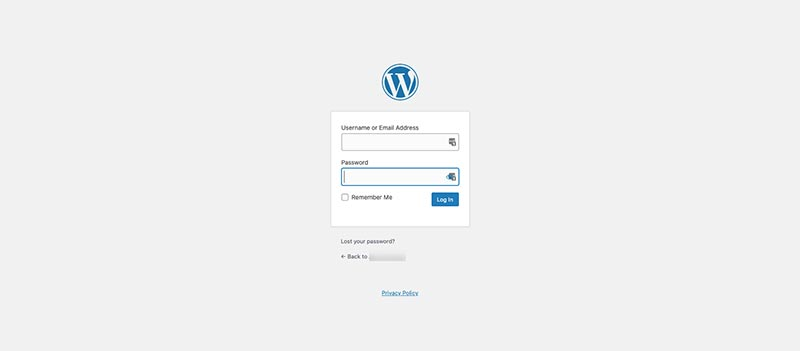 WordPress login stranica